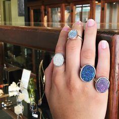Conoce los hermosos anillos de plata con gemas druzy #anillos #druzy #sayulita