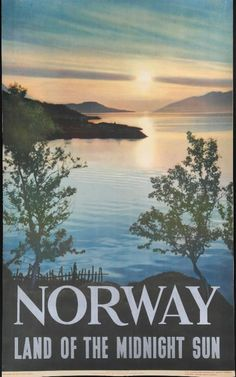 1950s Poster - Norway Land of the Midnight Sun