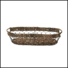 """Our Abaca with Wire Bread Tray, is the perfect solution for both indoor and outdoor entertaining. Our handcrafted Abaca items are 100% environmentally friendly.   Handmade in the Philippines  Size: 16"""" x 7.5"""" x 3.5"""""""