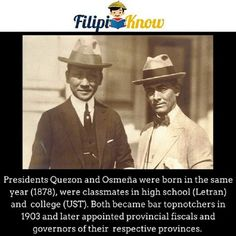 manuel quezon and sergio osmena inseparable philippine presidents Tagalog, Blow Your Mind, In High School, Pinoy, Trivia, Geography, Philippines, Presidents, Mindfulness