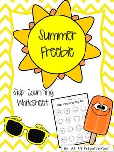 Have your students practice their skip counting by 5's with this cute summery worksheet!**Includes: 1 skip counting by 5's worksheetIf you like this product, make sure to check out my Summer Fun Packet!