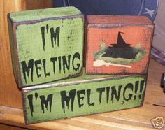 I'm Melting! This would be a fun decoration for an Oz event. Maybe set it by the melting with punch or cookies.