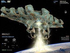 Alien 'Battlecruiser' Challenge, Mark Grizenko on ArtStation at https://www.artstation.com/artwork/alien-battlecruiser-challenge