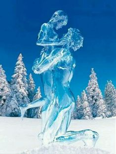 Ice sculpture...may not be an ice carving but stunning nonetheless ..