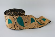 Hand-embroidered ribbon