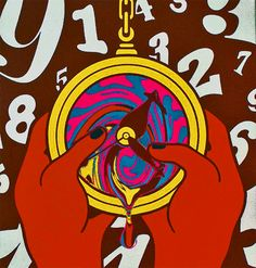 ☯☮ॐ American Hippie Bohemian Psychedelic Art ~ times slipping away animated