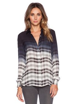Haute Hippie The Husband Blouse in Black