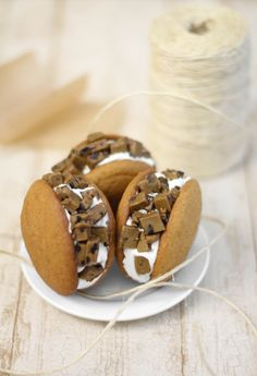 Cookie Dough Stuffed Pumpkin Whoopie Pies - could it be any more perfect for fall?