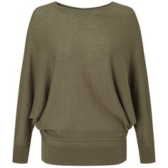 Jigsaw Boat Neck Batwing Jumper , Muted Khaki ($120) ❤ liked on Polyvore featuring tops, sweaters, muted khaki, patterned sweaters, lightweight sweaters, boatneck sweater, boat neck tops and khaki sweater