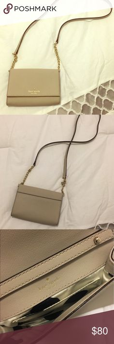 Kate Spade Crossbody Super cute and small. Only used once! Perfect condition. kate spade Bags Crossbody Bags