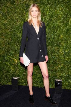 Sigrid Agren at Chanel's Tribeca Film Festival party. See all the best dressed looks from the night here.