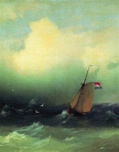 Storm at Sea - Ivan Aivazovsky - Completion Date: 1847