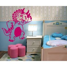 Style and Apply Triceratops Wall Decal Art Home Decor ( 16in x 19in)