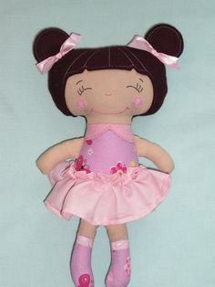 Handmade Small doll little sister doll cloth doll by cocomia, $20.00