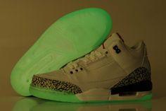 Air Jordan Cement 3 III Retro Mens Shoes Glowing White Blue