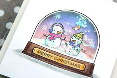 Snow glove Christmas shaker card idea - DIY Crafts Video tutorial - Holiday Card Series 2015 - Day 9