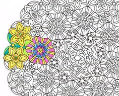 Mandala Coloring Page - Inner Light - printable coloring page for mindfulness, art therapy and fun! A great get well soon gift.