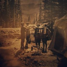 Ladies camping and celebrating their independence