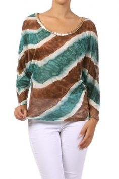 100 percent Polyester 1S/1M/1L Per Pack Brown (shown) This HIGH QUALITY top is BEAUTIFUL!! Very nicely colored, this sweet multicolor printed top with trimmed neckline is made from a soft and comfy fabric that is hand washable, and fits true to size.