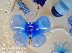 Les papillons en bouteille plastique