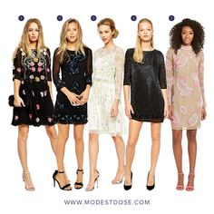 Embellished dresses perfect for Eid! Pair with straight leg trousers for a modest look!  1-4-@asos 5.@very