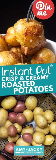 Instant pot recipes 21744010688526917 - Instant Pot Crisp and Creamy Roasted Potatoes. Trying this asap! What a tasty and easy way to prep baby potatoes. I don't have a stainless steel steamer pot, so I need to figure that out… Source by berrytink Pressure Cooker Roast, Pressure Cooker Potatoes, Instant Pot Pressure Cooker, Slow Cooker, Pressure Cooking, Carne Asada, How To Make Crisps, Instapot Roast, Instapot Potatoes