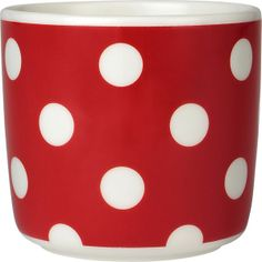 Marimekko Pallo Red and White Cup in Kitchen and Table | Crate and Barrel => ice cream mug!!