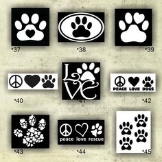 PAW PRINT Vinyl Decals Vinyl Stickers Paw Prints - Custom vinyl decals for crafts
