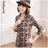 | CATWORLD | Vintage Style Checkers Shirt