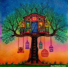 coloring ideas-treehouse