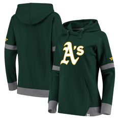Oakland Athletics Fanatics Branded Women Iconic Fleece Pullover Hoodie –  Green Gray 4ae1cbe892ed