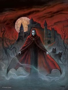Transylvania vampires, werewolves, and other mythical creatures are extremely famous. Discover the myths and history of vampires and Dracula`s legend! Gothic Horror, Arte Horror, Horror Art, Fantasy Kunst, Dark Fantasy Art, Dark Art, Art Vampire, Gothic Vampire, Werewolf Hunter