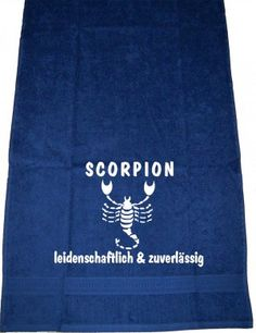 Scorpion – leidenschaftlich & zuverlässig; Handtuch | ShirtShop-Saar.de