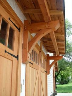 timber frame roof overhang - Google Search