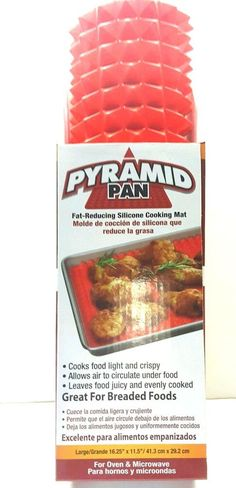 Pyramid Pan Baking Mat Non-Stick No Fat Silicone Cooking 16x11 As Seen On TV NEW #NorthernResponseAsSeenonTV
