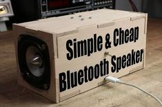 Make Your Own Simple & Cheap Portable Bluetooth Speaker (Diy Tech) Diy Bluetooth Speaker, Bluetooth Gadgets, Diy Speakers, Homemade Speakers, Arduino Bluetooth, Speaker Amplifier, Speaker Box Diy, Electrical Projects, Electronics Projects
