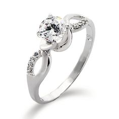 CZ Infinity Ring - Brilliant Cut, a beautiful piece of jewelry. A great promise ring that celebrates that love in infinite. Gift box included!