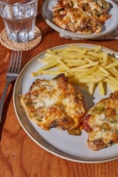 Sarkadi pecsenye recept   Street Kitchen Feta, Cauliflower, French Toast, Food And Drink, Chicken, Vegetables, Street, Breakfast, Kitchen