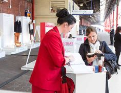 Commuters enjoying the free samples handed out at the #JohnLewis High Wycombe store launch at #Marylebone Station #JLHighWycombe 2nd October 2013
