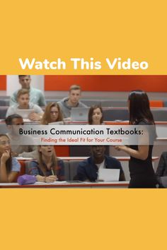 Business Video, Ideal Fit, Textbook, Texts, Communication, Author, Teaching, Watch, Gallery
