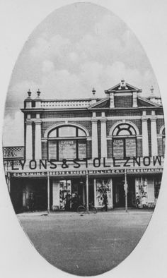 Premises of Lyons and Stollznow, Bourbong Street, Bundaberg, ca. 1911 / John Oxley Library, State Library of Queensland, Neg: 203049 http://hdl.handle.net/10462/deriv/203620   thefashionarchives.org
