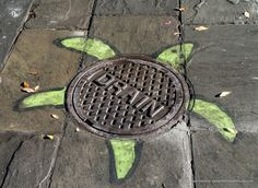 Turtle Street Art, French Quarter, New Orleans © 2018 Patty Hankins #streetart