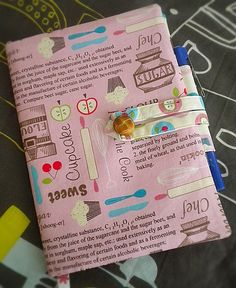 How To Make A Fabric Journal/notebook Cover With Pen Holder - Digital File…