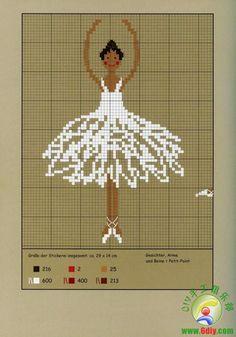 patrones bailarinas www.6diy.com/...