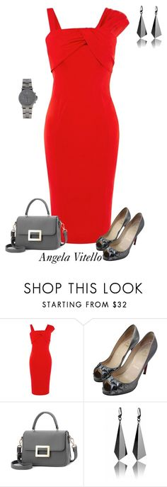 """Untitled #920"" by angela-vitello ❤ liked on Polyvore featuring Coast, Christian Louboutin and Michael Kors"