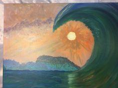 The wave Waves, Paintings, Art, Art Background, Paint, Painting Art, Kunst, Ocean Waves, Performing Arts