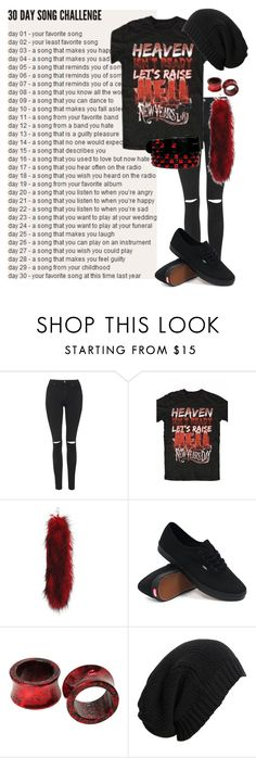 day 26: welcome to the black parade by my chemical romance by bands-are-my-savior on Polyvore featuring Topshop, Vans and AllSaints