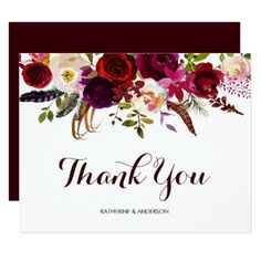 Thank You Cards Wedding Ideas