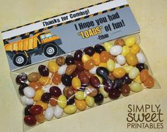 Construction/Truck DIY Printable Treat Bag Topper  by SSPrintables, $7.00