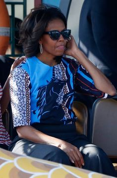 How cool is Michelle Obama wearing @Clover Canyon?!